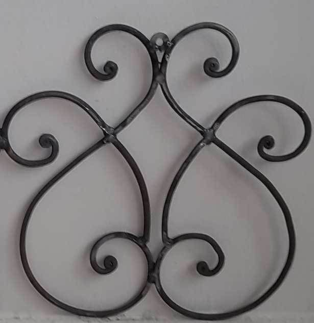 Rustic Scroll Design: Rustic Wrought Iron Hanging Tuscan Wall Decor Metal Swirls