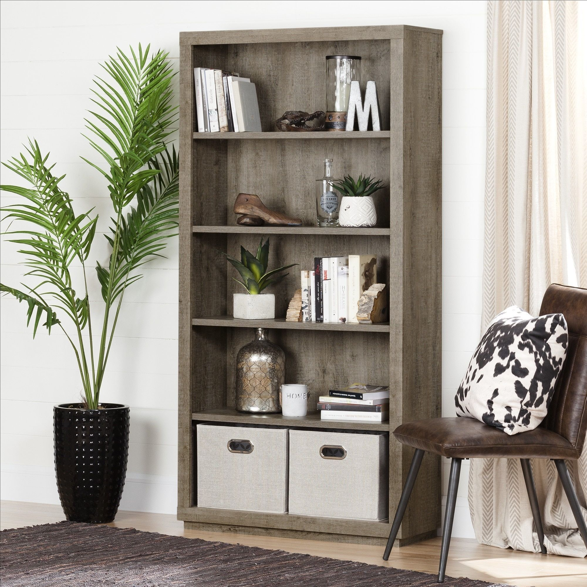 bookcase collection raw shelf axess chocolate southshore south shore