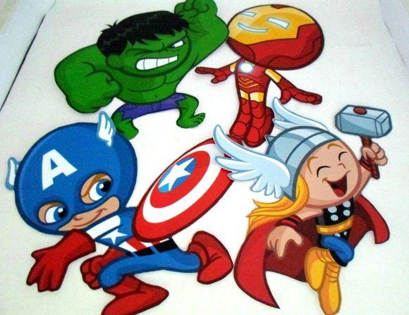 Enfeite De Parede Super Herois 25cm Vingadores