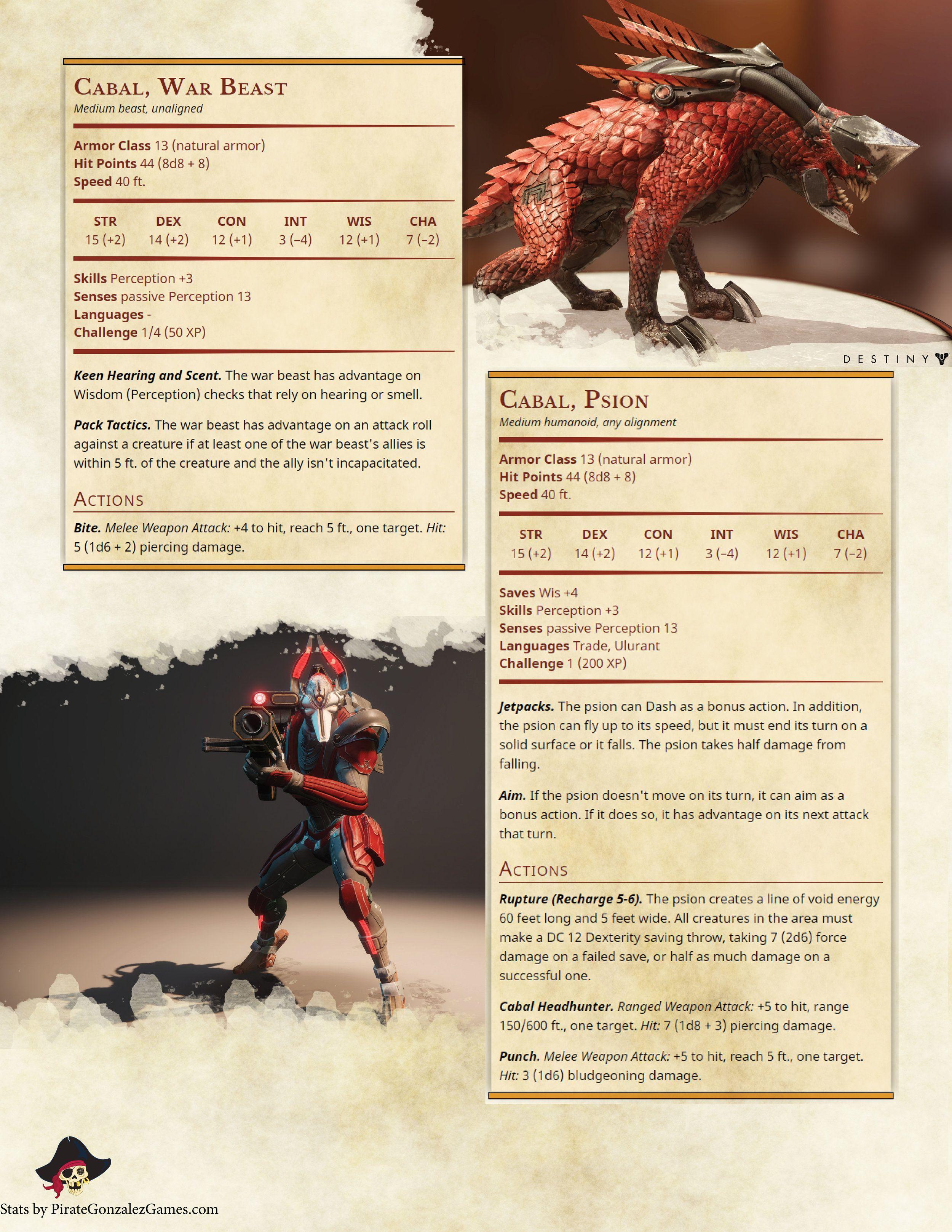 Cabal War Beast, Cabal Psion | D&D Stuff in 2019 | Dungeons, dragons