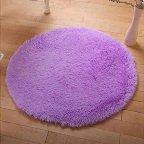 Circle Round Soft Shaggy Rug Kids Children Living Room Bedroom Carpet Floor Mat