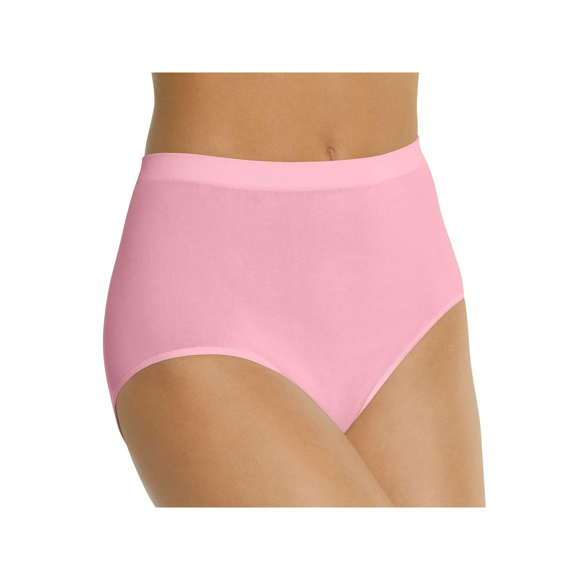 Bali Comfort Revolution Seamless Microfiber Brief 803J - Women's, Size: 7, Pink