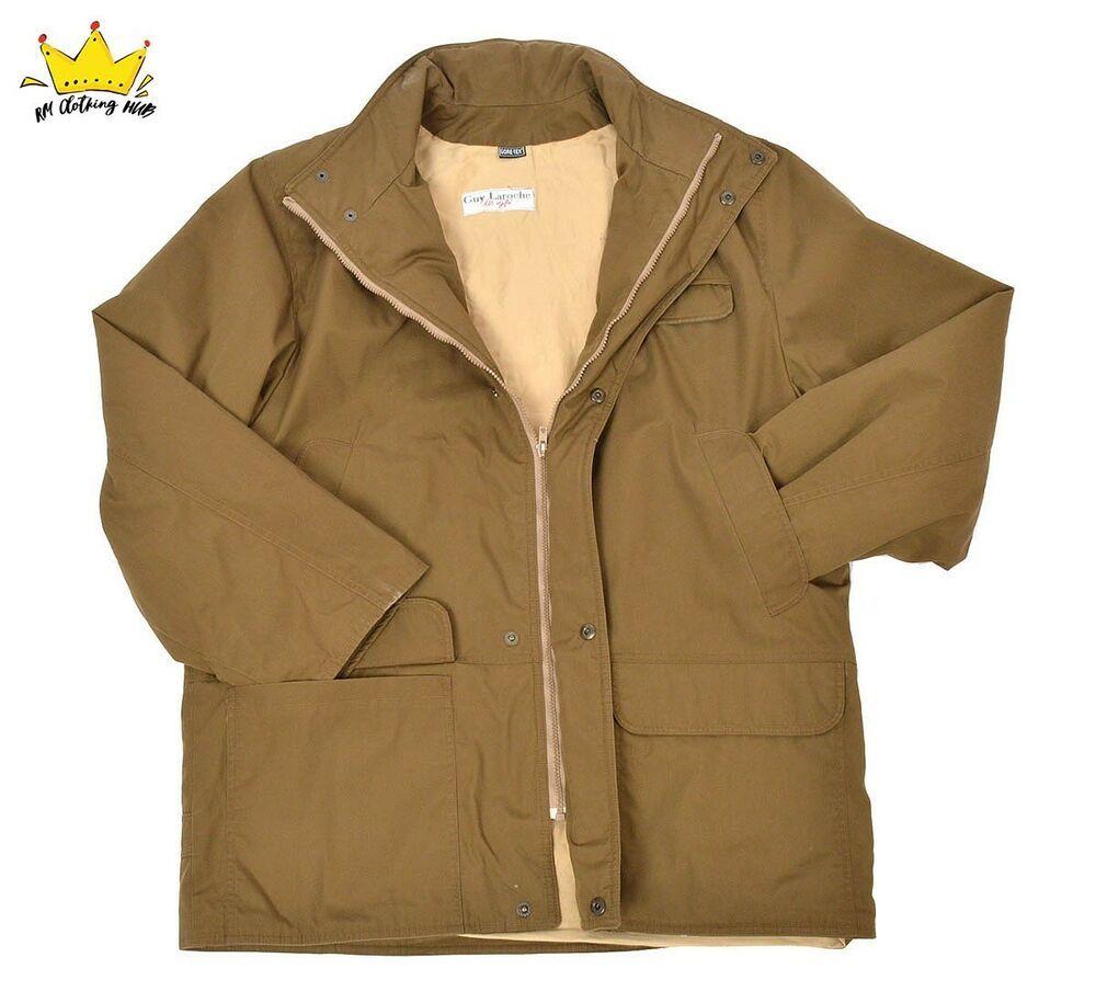 55cf3fa49 Guy Laroche Mens Designer Gore-Tex Outdoor Proof Breathable Jacket ...