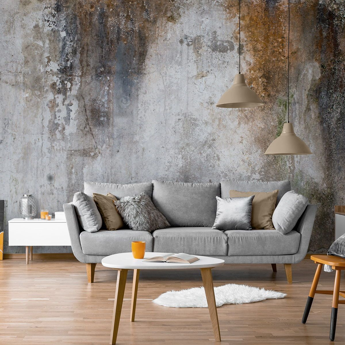 Aged Concrete Wallpaper Wallsauce Nz In 2020 Concrete Wallpaper Wallpaper Living Room Home Wallpaper