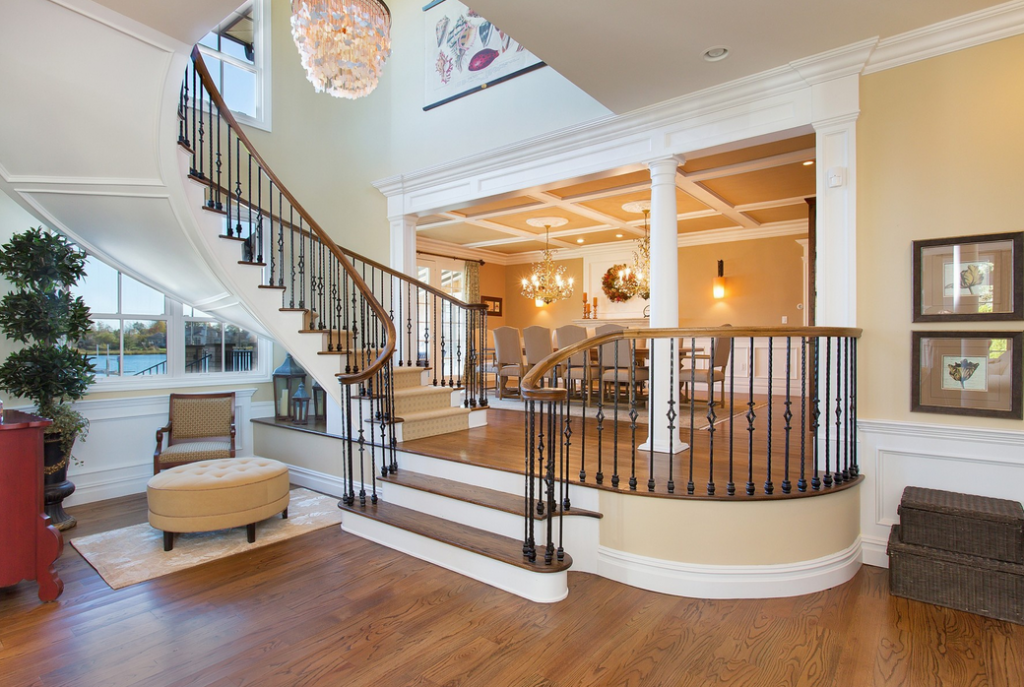 Best Interesting Split Level Staircase Design Open To Formal Dining Room Staircase Design 640 x 480