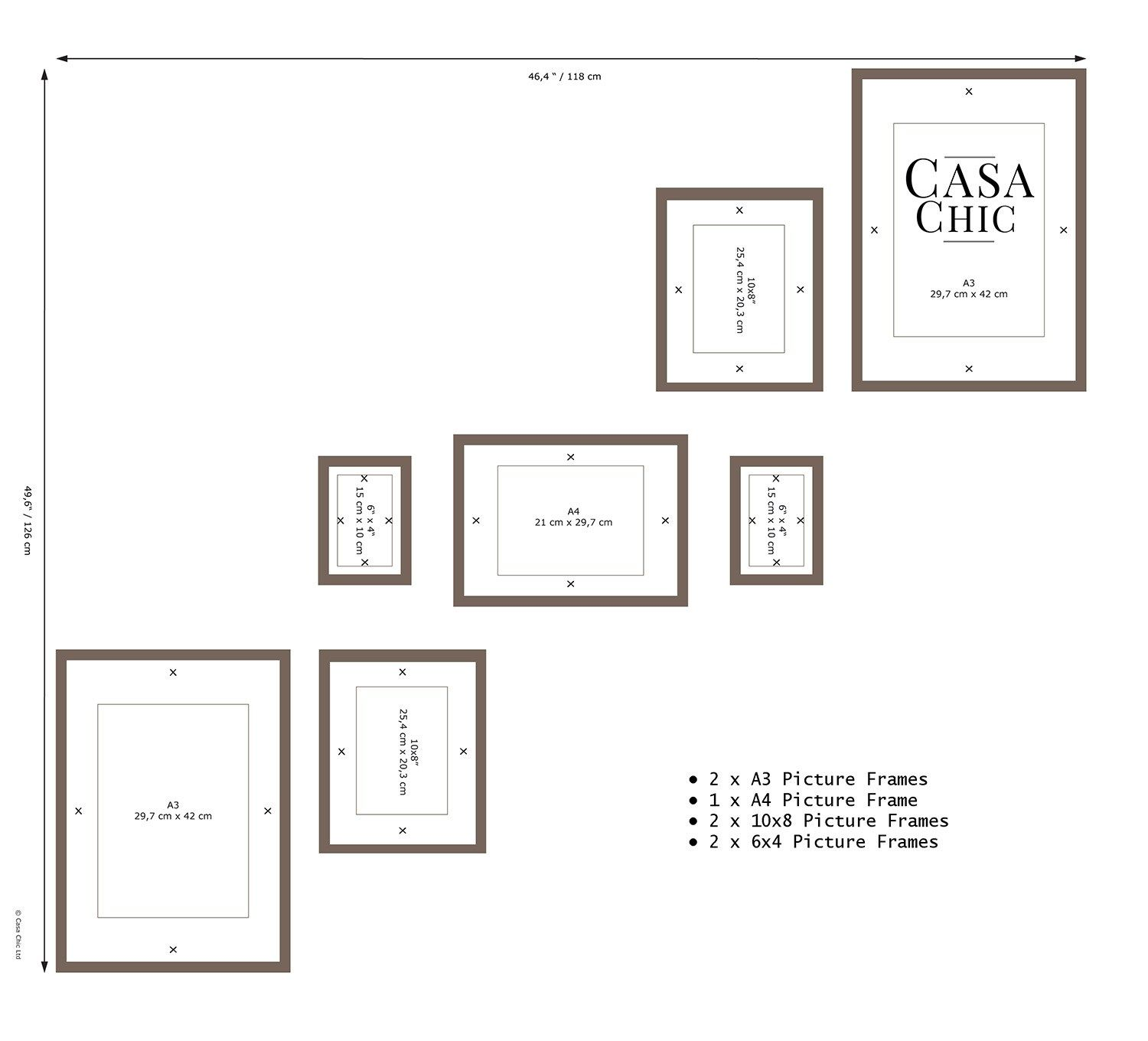 gallery wall template | Ideas for beautiful Gallerywalls | Pinterest ...