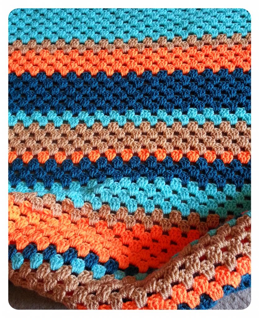 Tiny Traveler Blanket - using traditional Granny Stripes #crochet ...