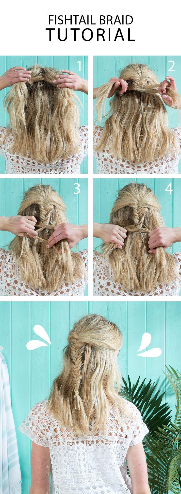 Lovely hair pinterest fishtail braids fishtail and easy