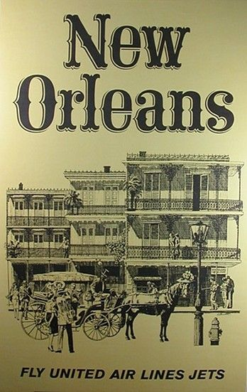 1930s New Orleans Poster Web Projects Pinterest