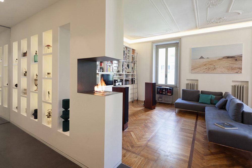 Parete Attrezzata In Cartongesso Per Un Soggiorno Moderno Idee Di Interior Design Design Del Prodotto Arredamento Salotto Piccolo