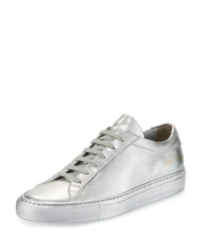 ad1740445 X3A1X Common Projects Achilles Leather Low-Top Sneaker, Silver ...