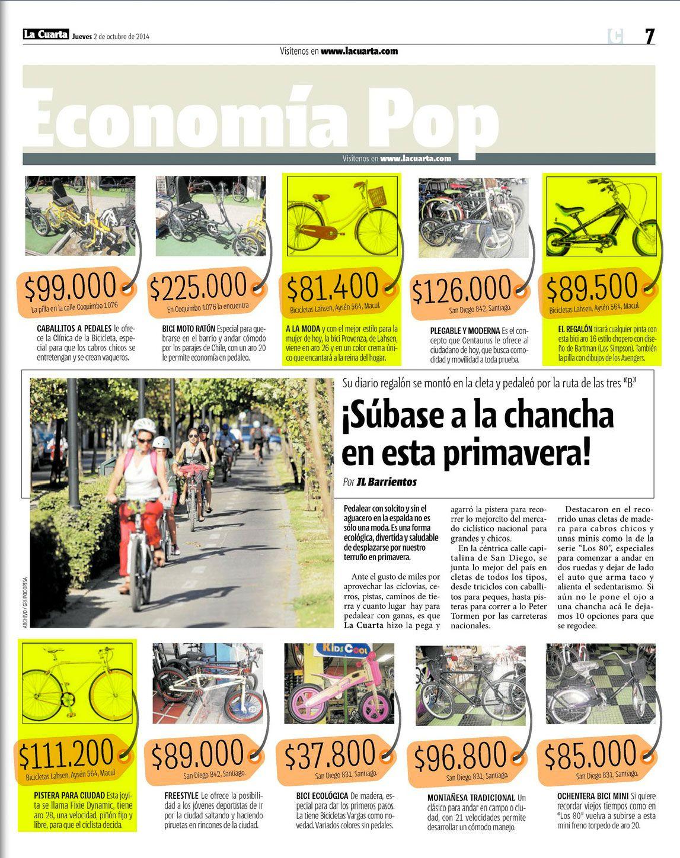 Diario La Cuarta | Publicaciones Bicicletas Lahsen | Pinterest