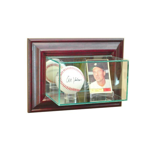 Wall Mount Card and Single Baseball Glass Display Case | Sports ...