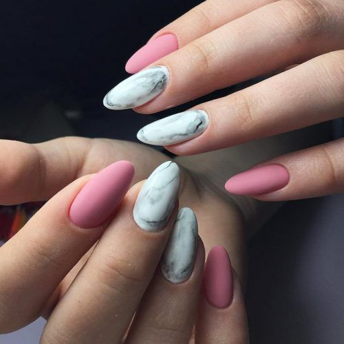 34 Pink And White Nails Trends For Spring And Summer 2020 Manicura Para Unas Cortas Unas Cortas Manicura