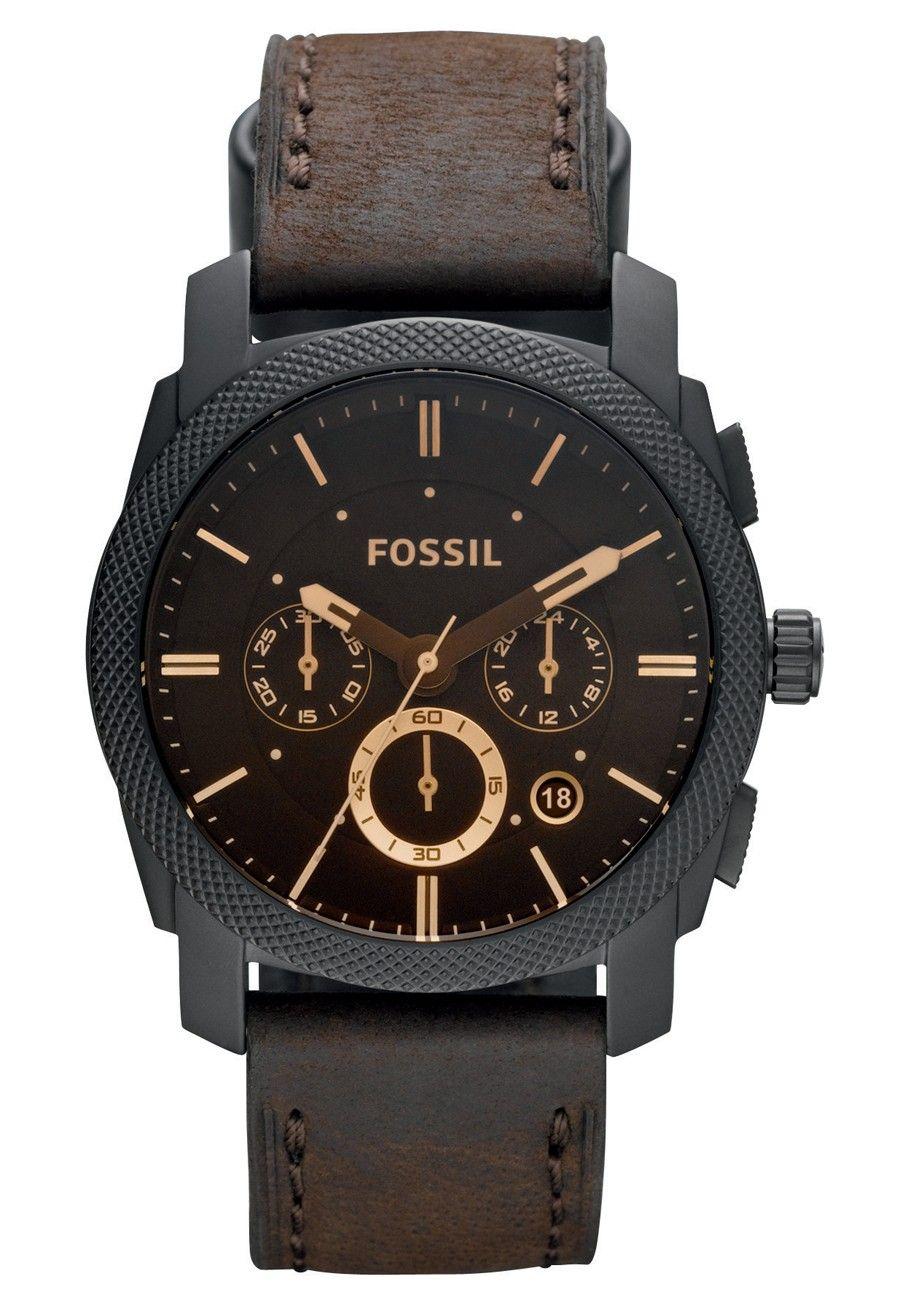26c1de747b Fossil Machine FS4656 herreur læder Orologi Donna, Orologi Alla Moda, Accessori  Uomo, Orologio