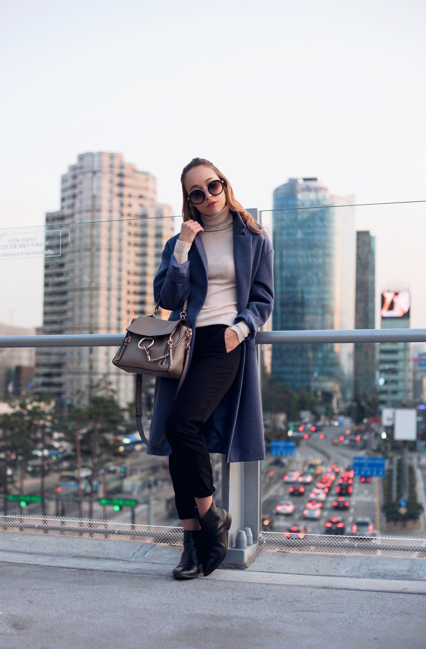 Trendfarbe Blau: So kombinierst du den blauen Mantel