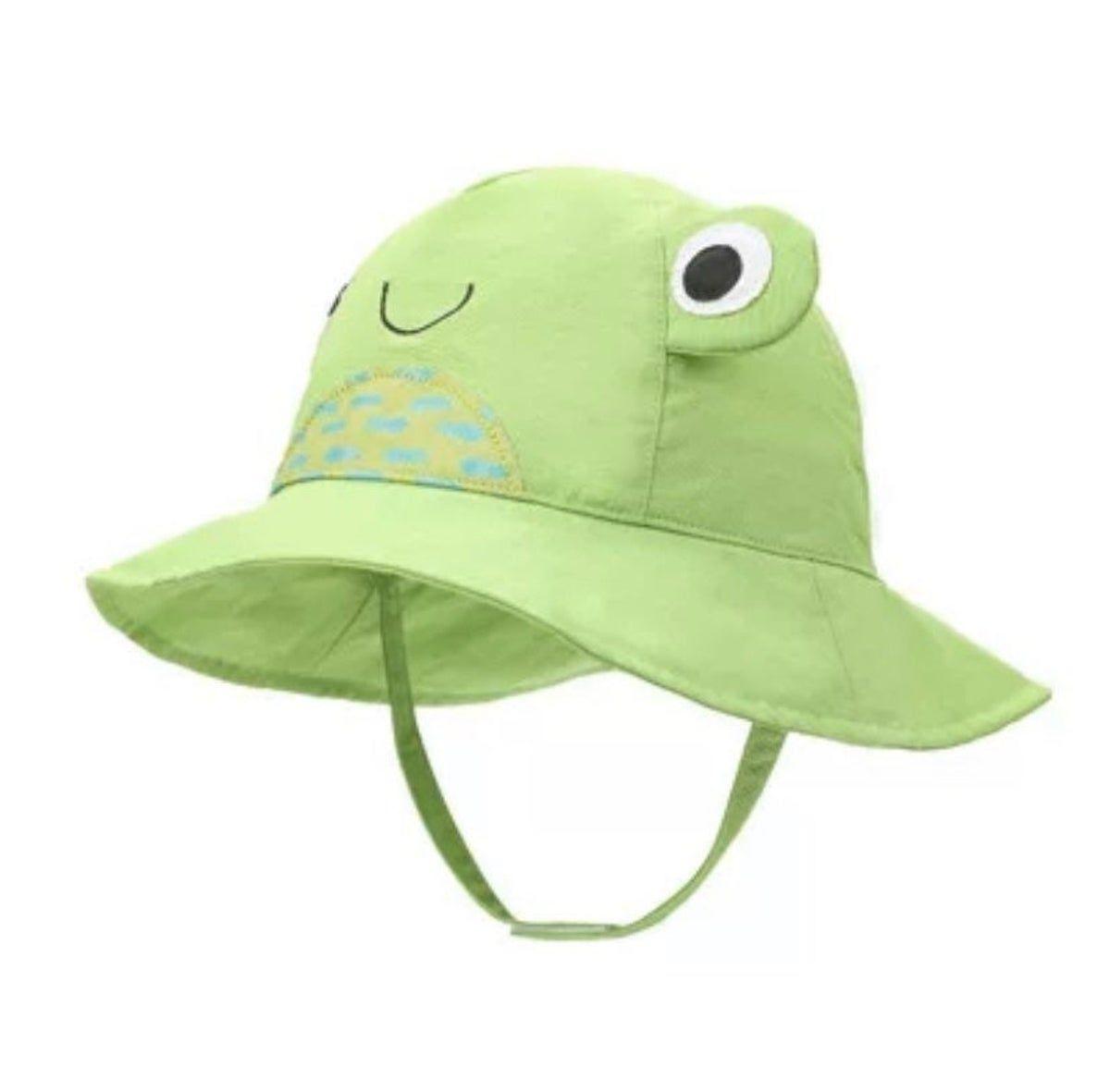 Green frog child bucket hat in 2020 kids bucket hat