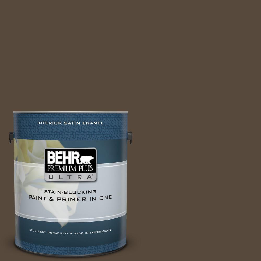 Behr Premium Plus Ultra 1 Gal Mq2 39 Rare Wood Satin Enamel Interior Paint And Primer In One Interior Paint Exterior Paint Behr Marquee