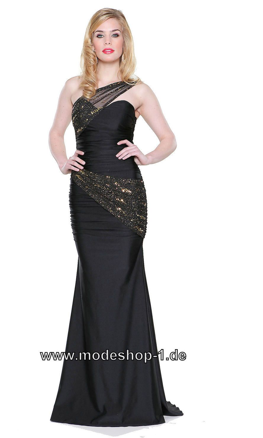 Diana Träger Abendkleid Lang in Schwarz 149 € www.modeshop-1.de ...