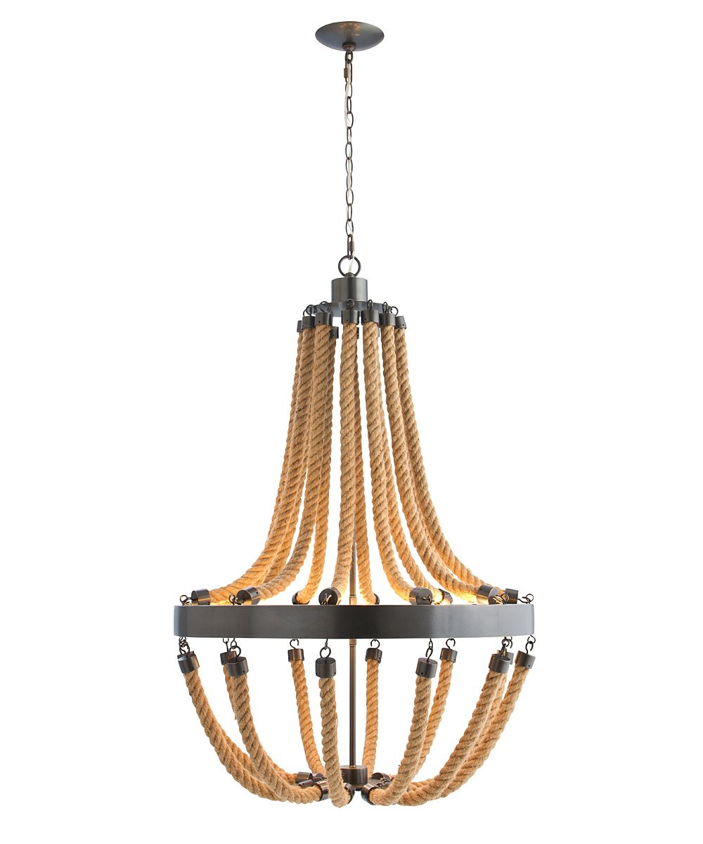 vic 8l ironrope chandelier lighting chandeliers - Nautical Chandelier