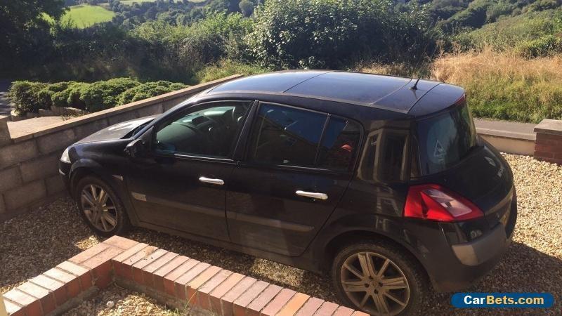 Black Renault Megane Dynamique 1.6 Petrol 2006 16V Leather interior  #renault #megane #forsale #unitedkingdom