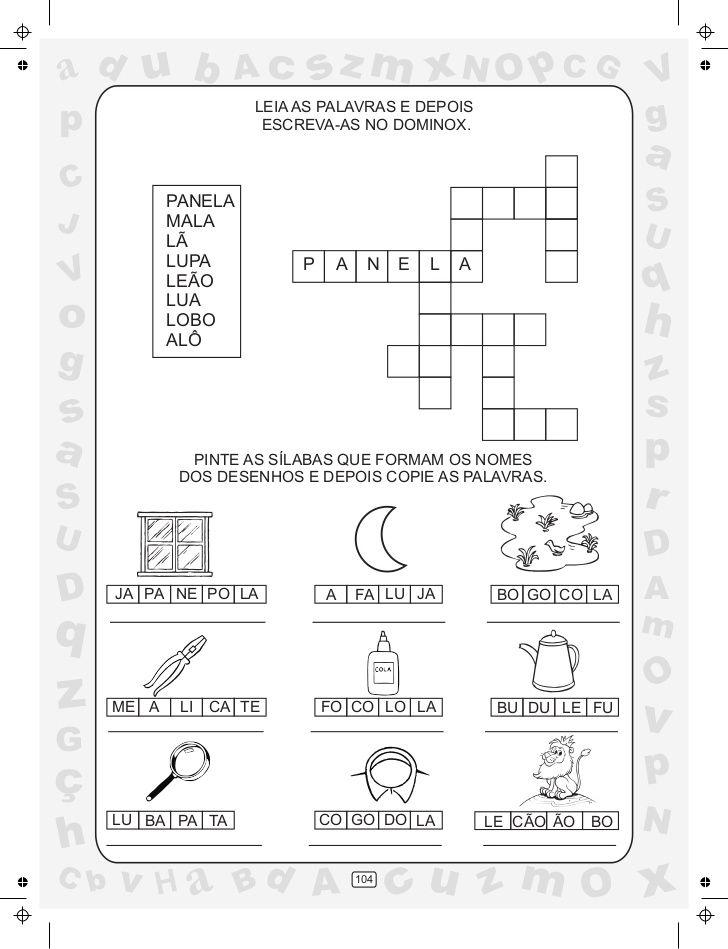 Ciranda Das Silabas Volume 3 Em 2020 Atividades Com O Alfabeto
