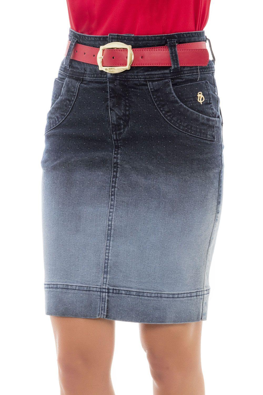 6e8ab1c8d Saia Com Bolsos Moda Evangélica - Via Tolentino Jean Dresses