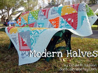 Modern Halves QuiltTutorial on the Moda Bake Shop. http://www.modabakeshop.com