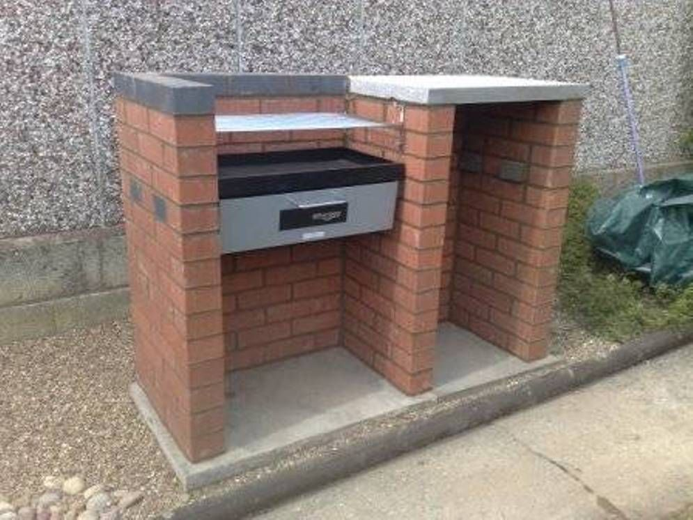 compact brick bbq grill design ideas outdoor bbq grill