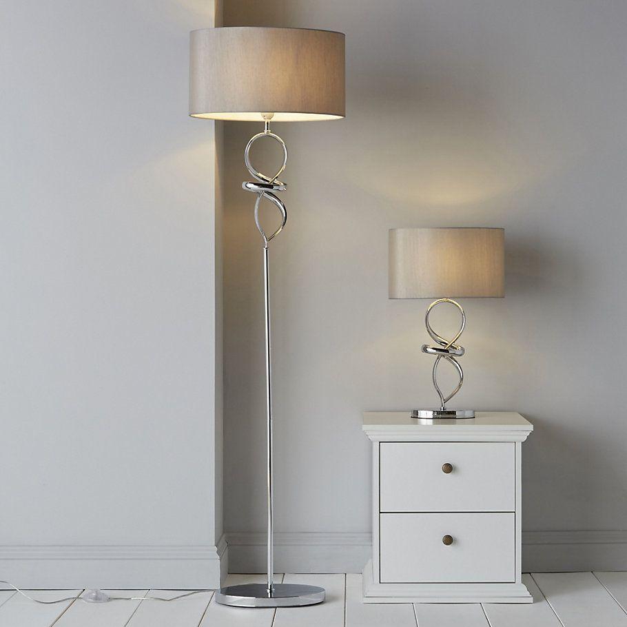 Hadwick Twisted Chrome Effect Floor Lamp Diy Floor Lamp Floor Lamp Chrome