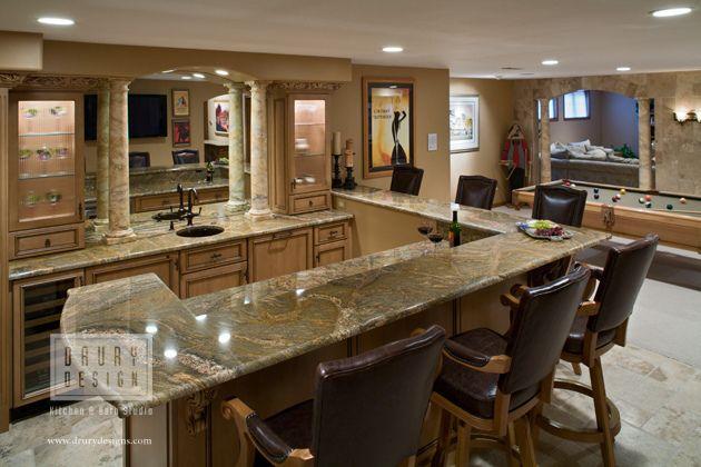 Rec room bar by drury designs kitchen bath studio via for Rec room design ideas