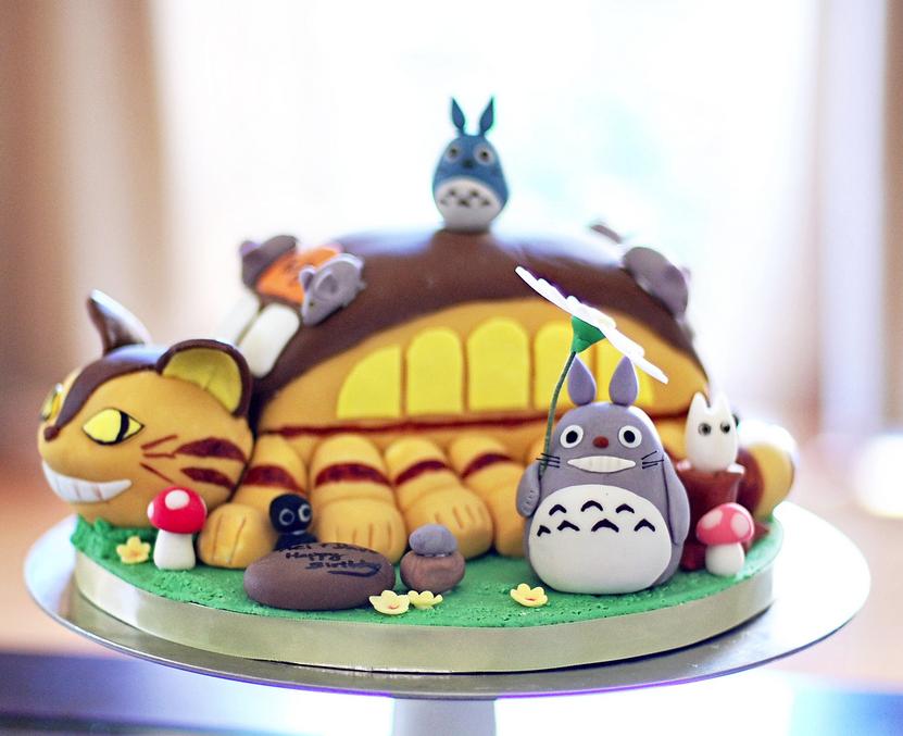 Totoro cake fondant decoration pinterest for Kuchenstudio essen