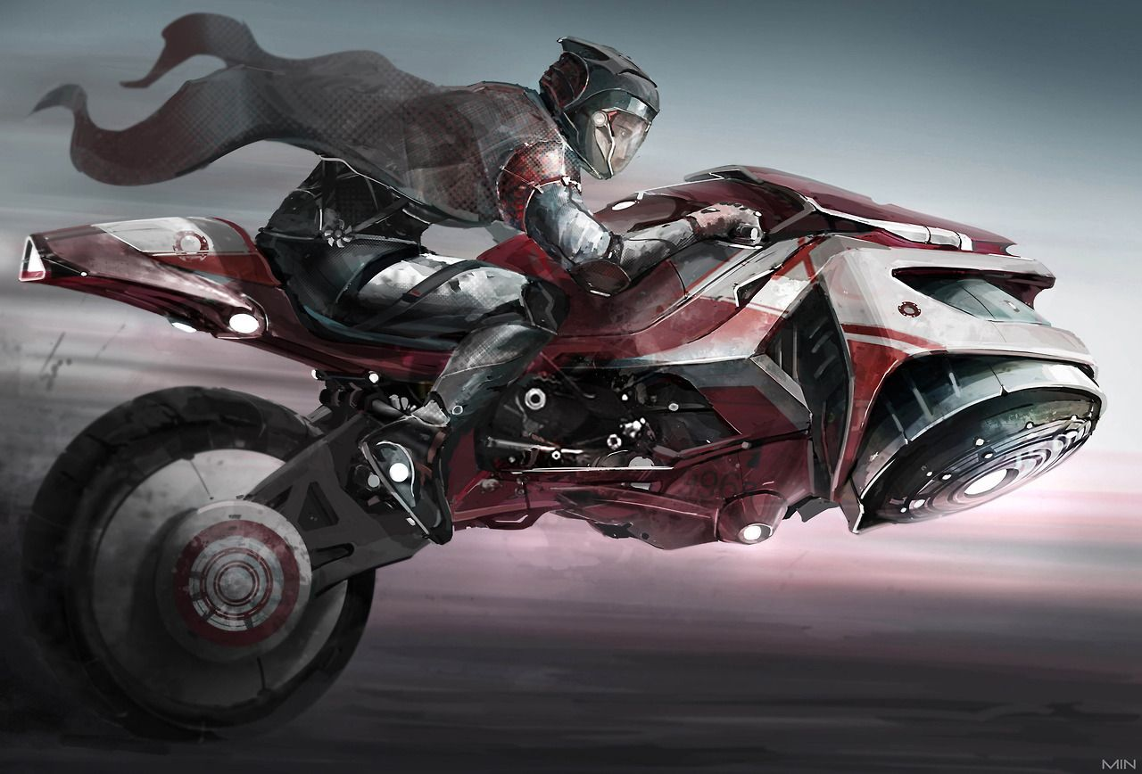 hover bike by Min Nguen | Futuristic motorcycle, Hover bike ...