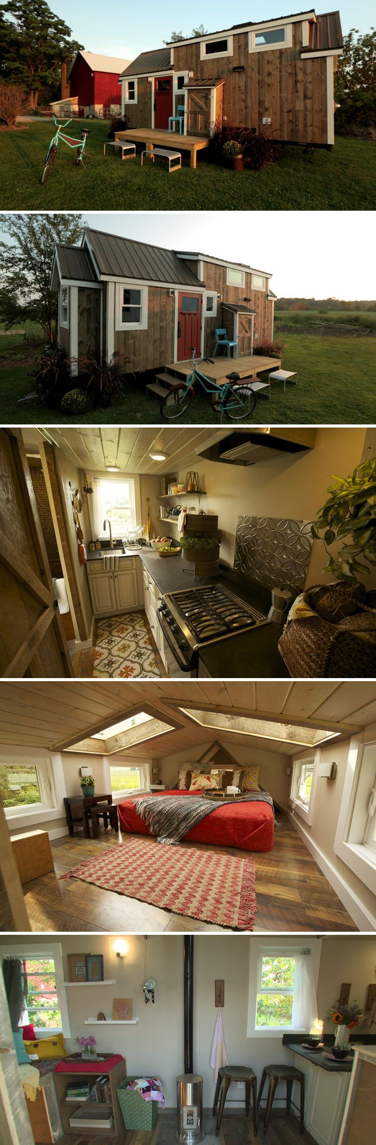 The Watertown by Wishbone Tiny Homes is an 8'x24′ custom tiny home on wheels, originally built for an episode of Tiny House Nation.