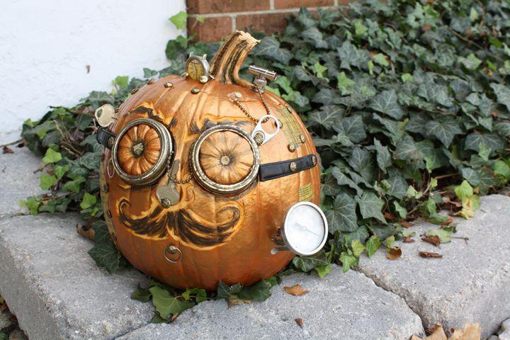 pumpkin template no stem  Creative Pumpkin Carving Templates: Steam Pumpkin, steam ...