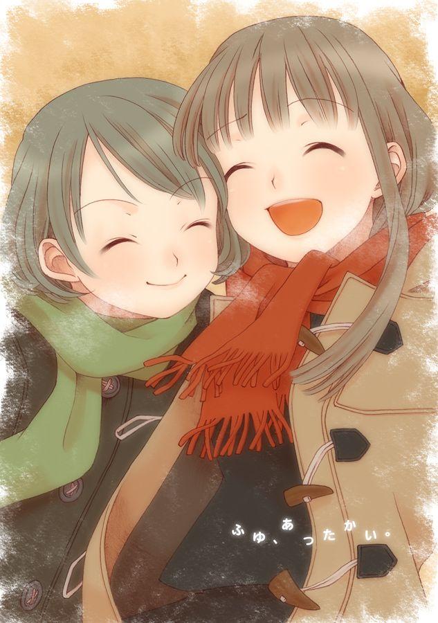 Anime Girls Smiling Animasyon Cizim
