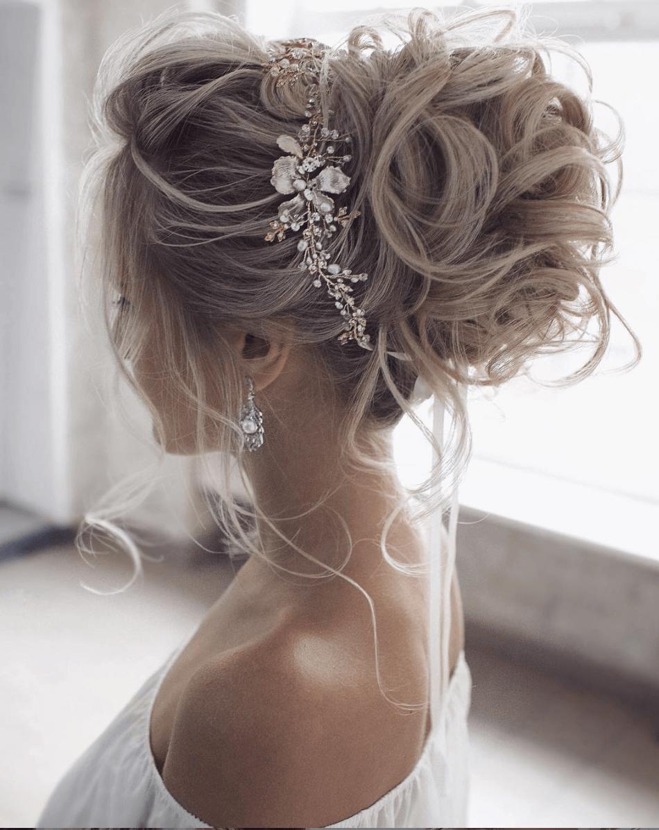 Photo of Atemberaubende Hochzeitsfrisuren für die Saison 2019- Aufgerollte Hochsteckfrisur #hochsteckfrisur – Hair Styles