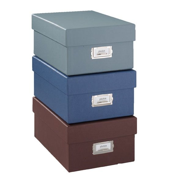 Decorative File Storage Boxes With Lids Signature Photo Storage Box  Organized Photos  Pinterest  Photo