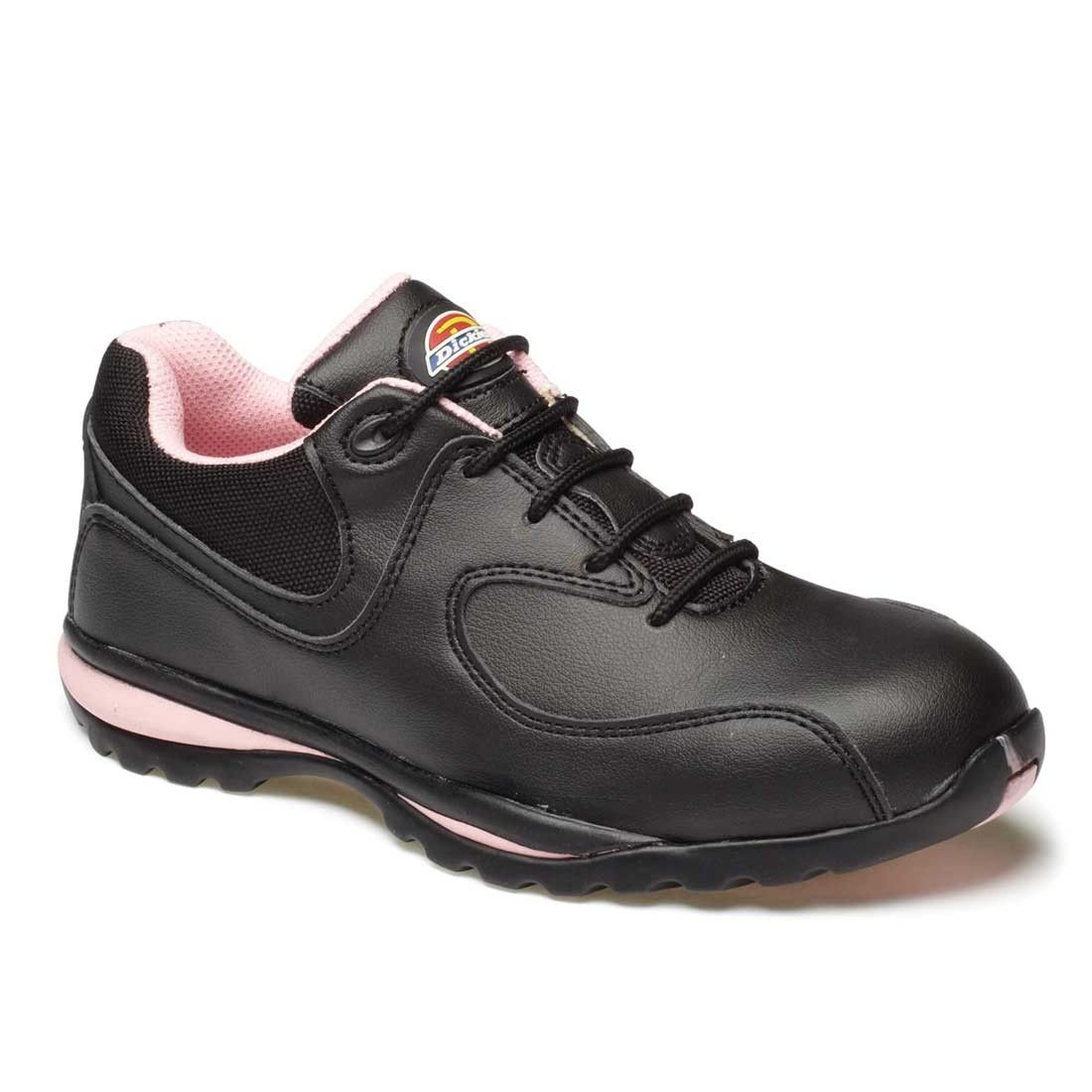low priced a0658 c3fe7 Dickies Ohio Ladies Pink Contrast Safety Trainer Shoes