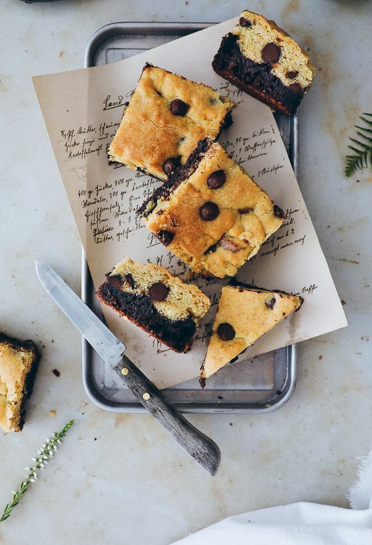 Rezept für Brookies - Brownies und Cookies in einem -