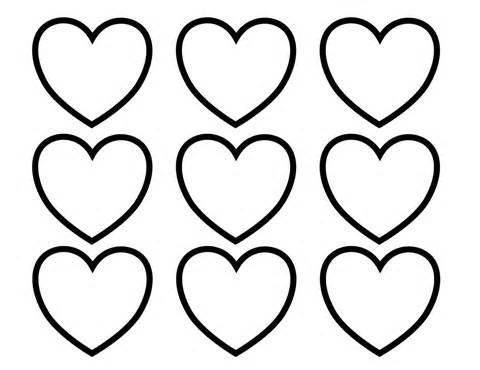Hearts Coloring Pages Printable Printable Soft Heart Coloring