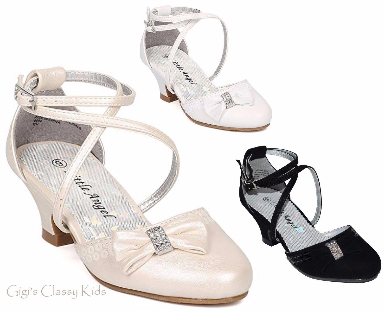 kids ivory dress shoes
