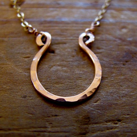 Rose Gold Good Luck Necklace  Handmade Rose Gold by delialangan, $49.00