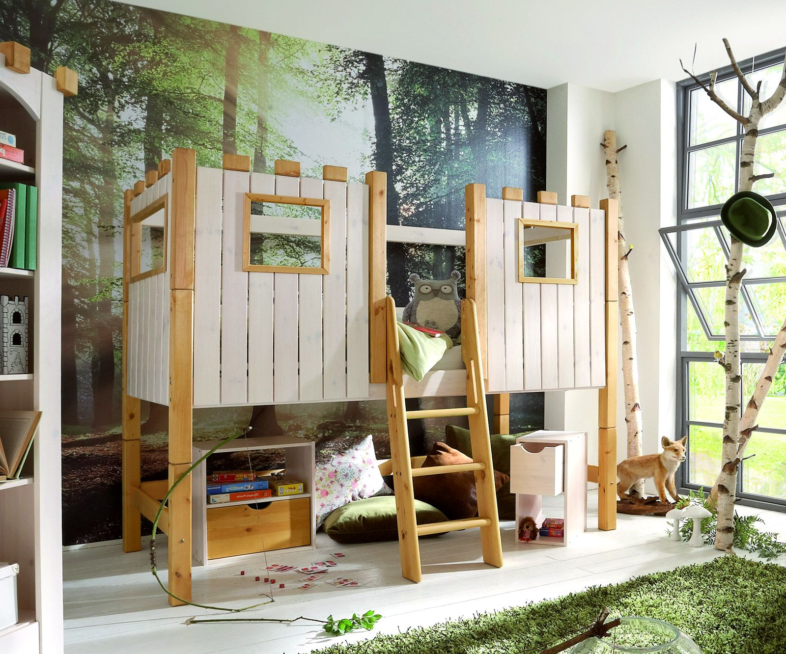 ritterburg hochbett kids paradise kinderbett hochbett. Black Bedroom Furniture Sets. Home Design Ideas