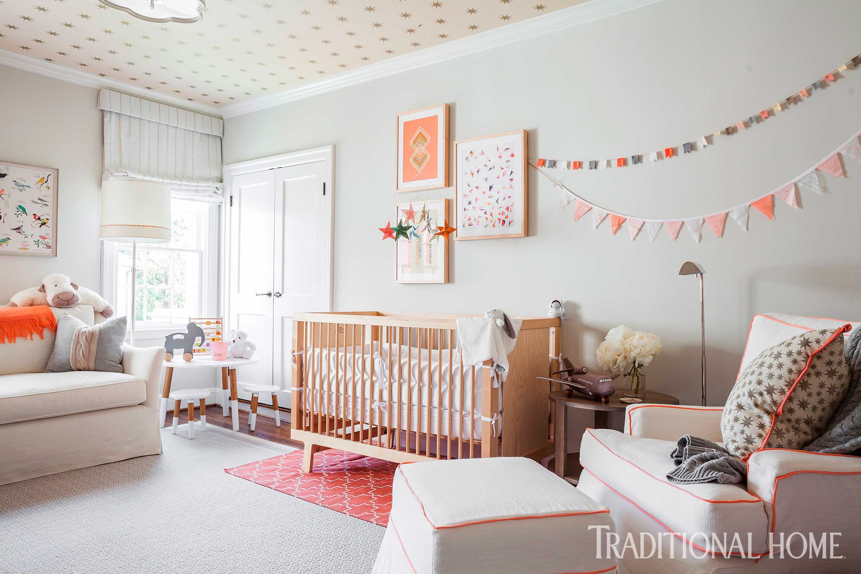 Houston Home With Great Use Of Texture Traditional Nursery Room