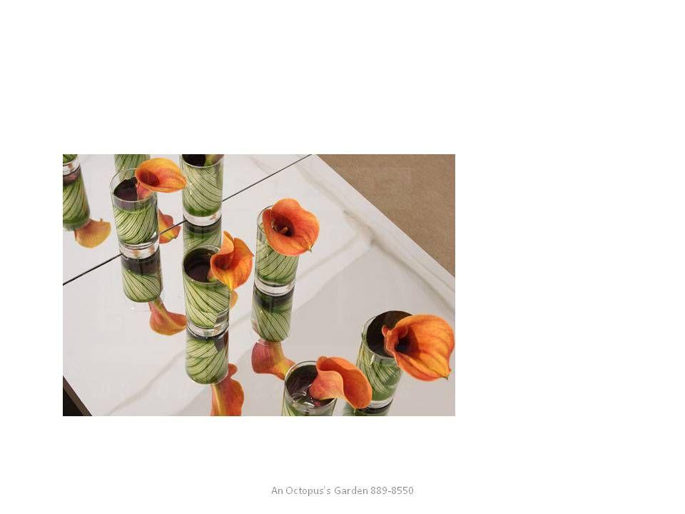 Leaves wrapped inside vase simple and elegant