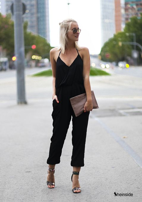 a-tes-souhaits: the–one: the–one: Black Jumpsuit via...