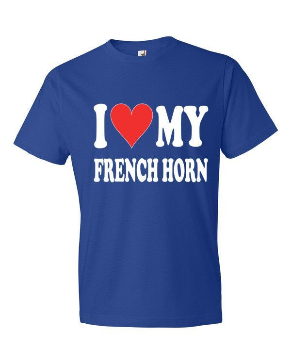 I Love My French horn, men's t-shirt