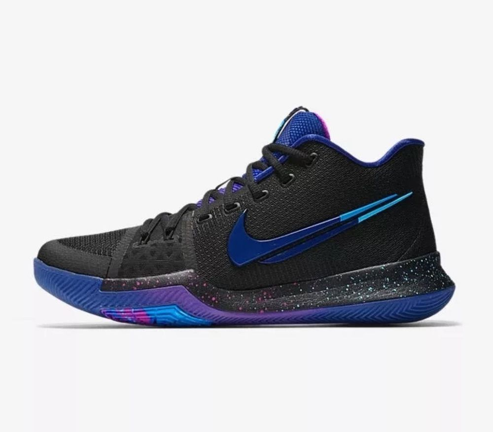 Nike Kyrie 3 Mens Basketball Shoes 14 Black Deep Royal Blue 852395 003