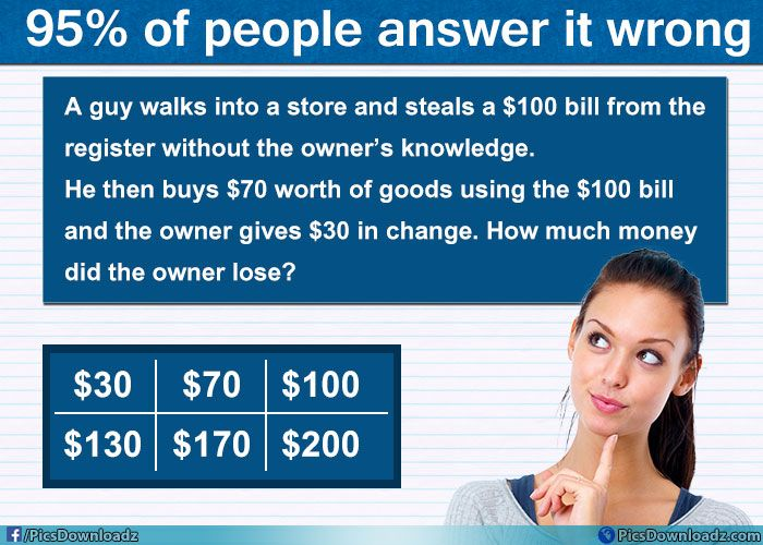 A Guy Steals 100 Bill Riddle With Correct Answer Viral Math